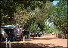 view of shady caravan area