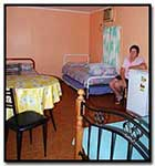 Interior view of budget accommodation